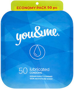 You & Me Lubricated 50ks - standardní lubrikované kondomy