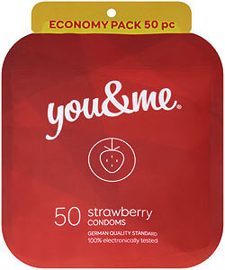 You & Me Strawberry 50ks - kondomy s příchutí jahod
