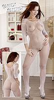 Mandy Mystery Fishnet Catsuit white