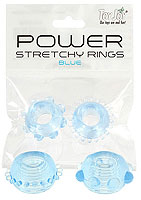 Power Stretchy Rings blue
